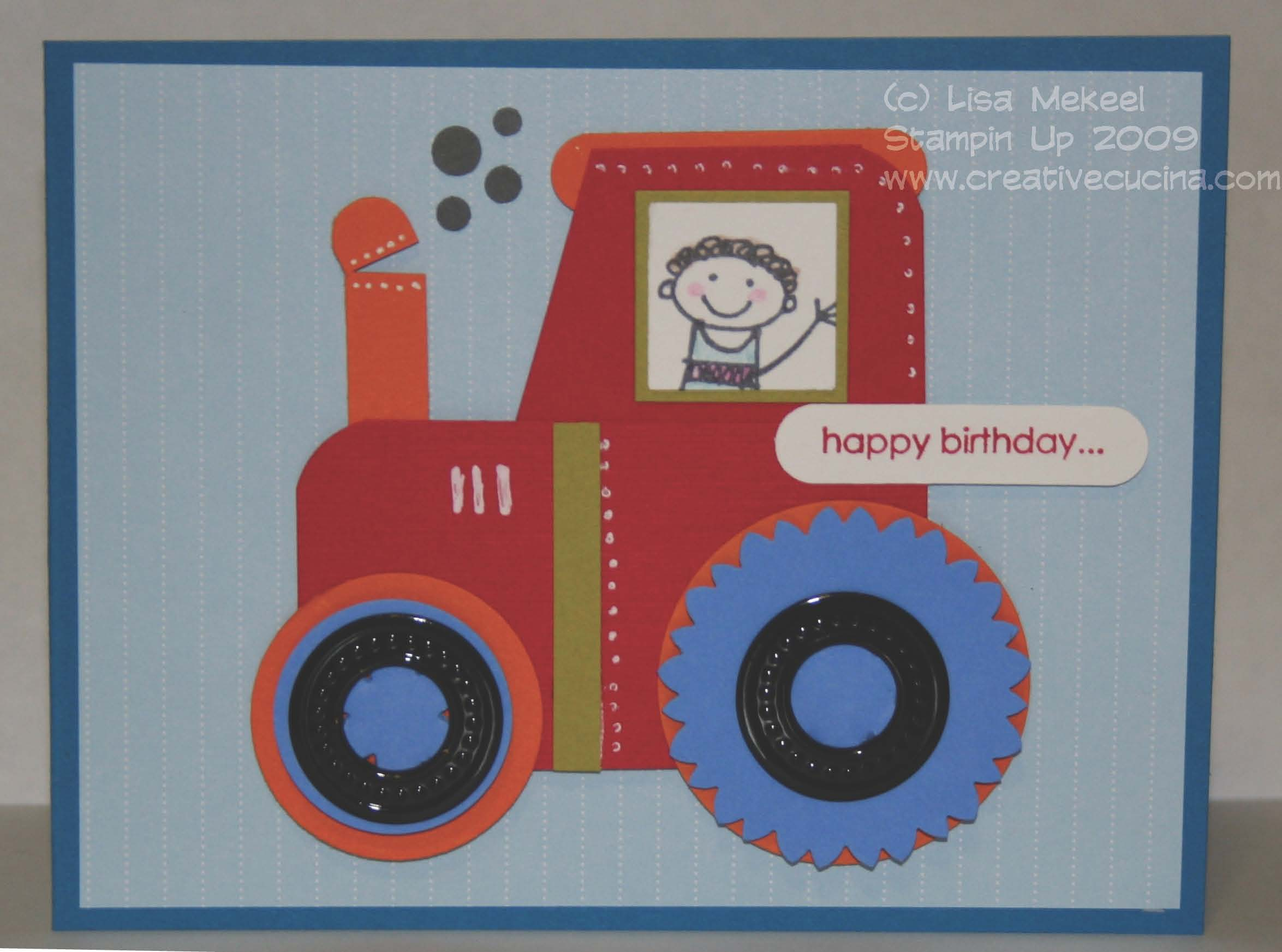 Riding the Birthday Tractor – Tractor Birthday Cards