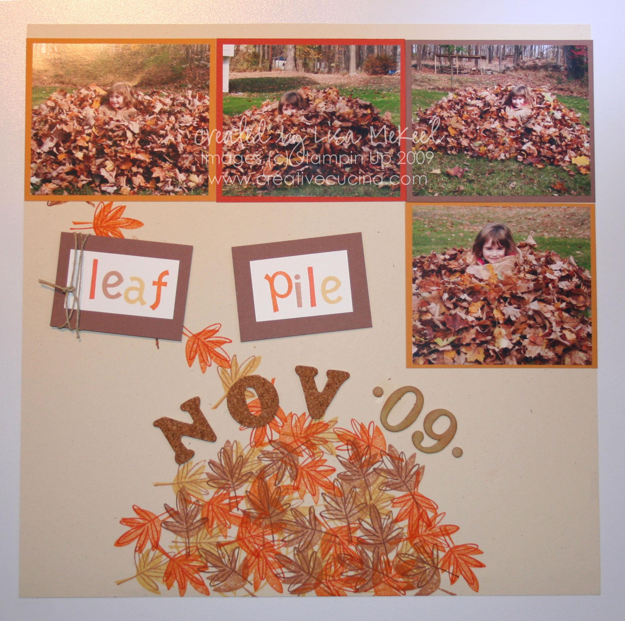 Fall Scrapbook Page Layouts