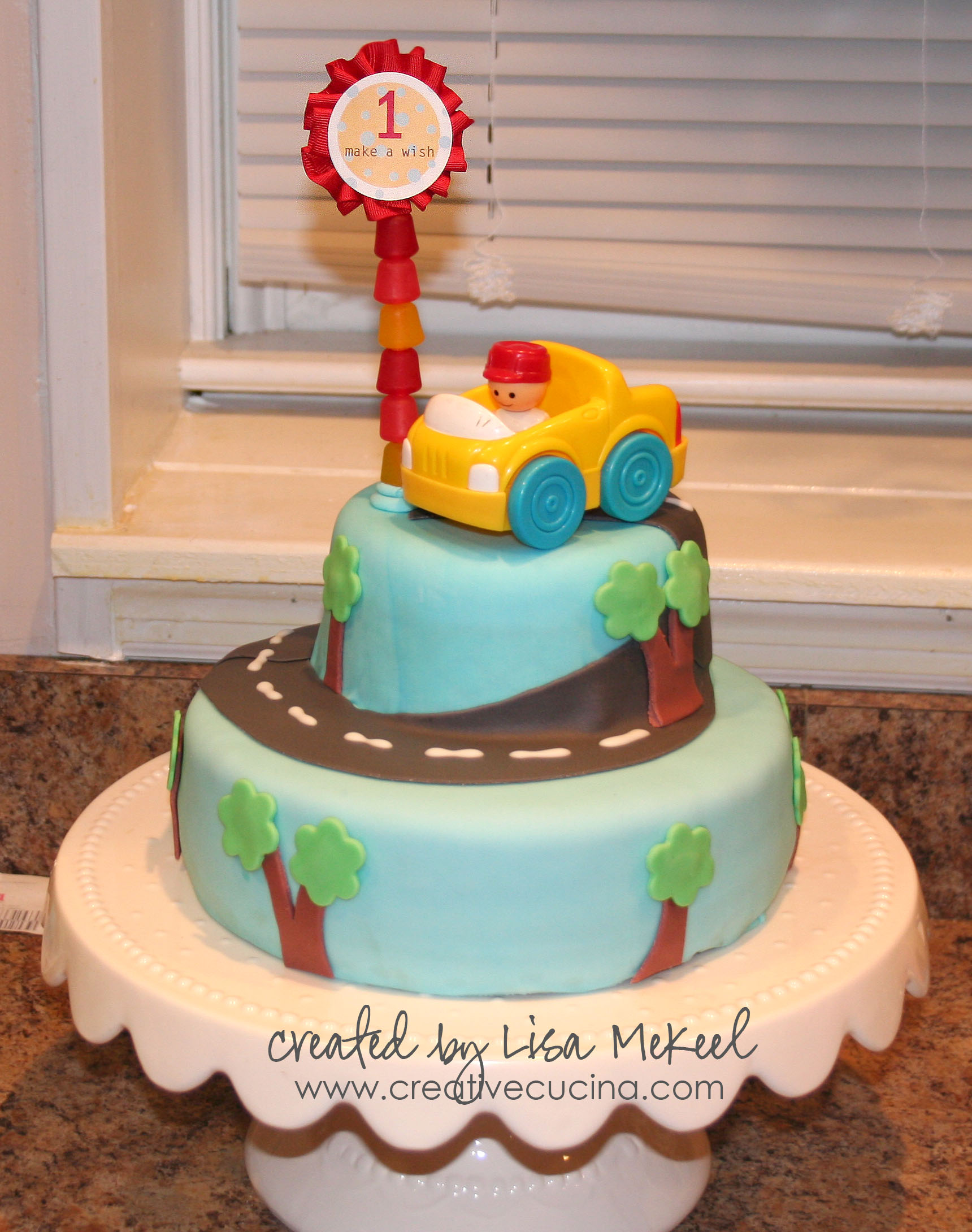 Car Cake Designs For Birthday Boy : 1st Birthday Boy Car Cake Creative Cucina