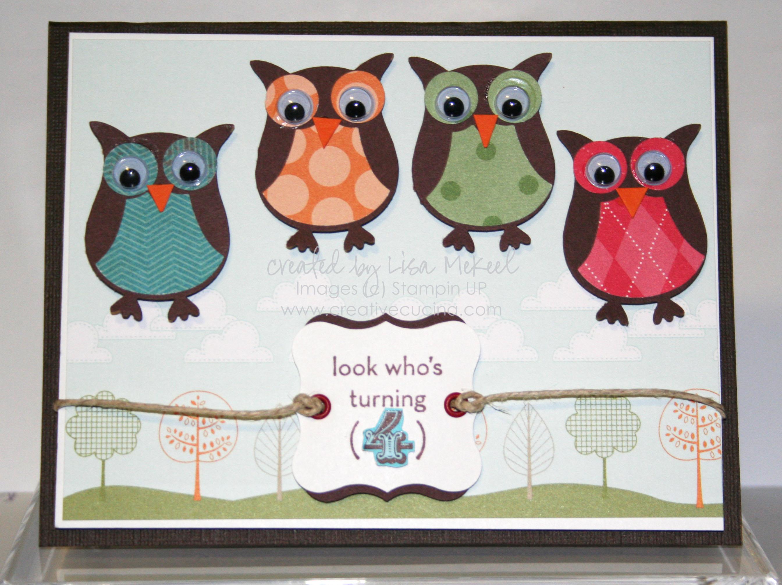Birthday Card Owls 4th Birthday – Birthday Cards for Little Boys