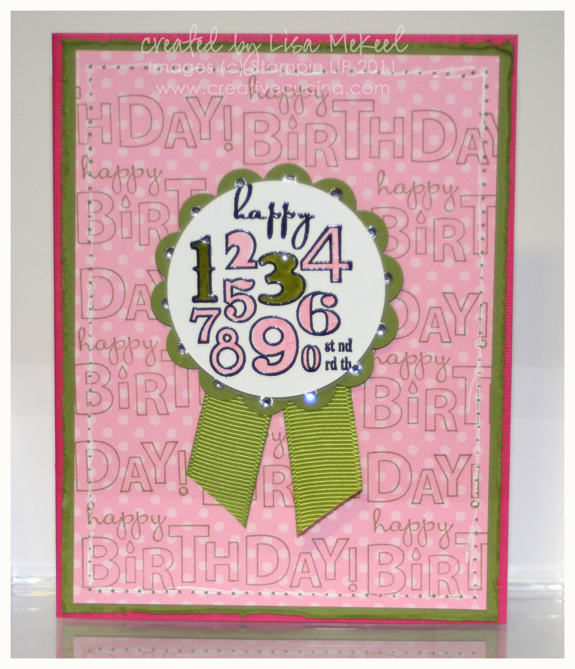 Pink green sparkly 13th birthday card creative cucina i bookmarktalkfo Image collections