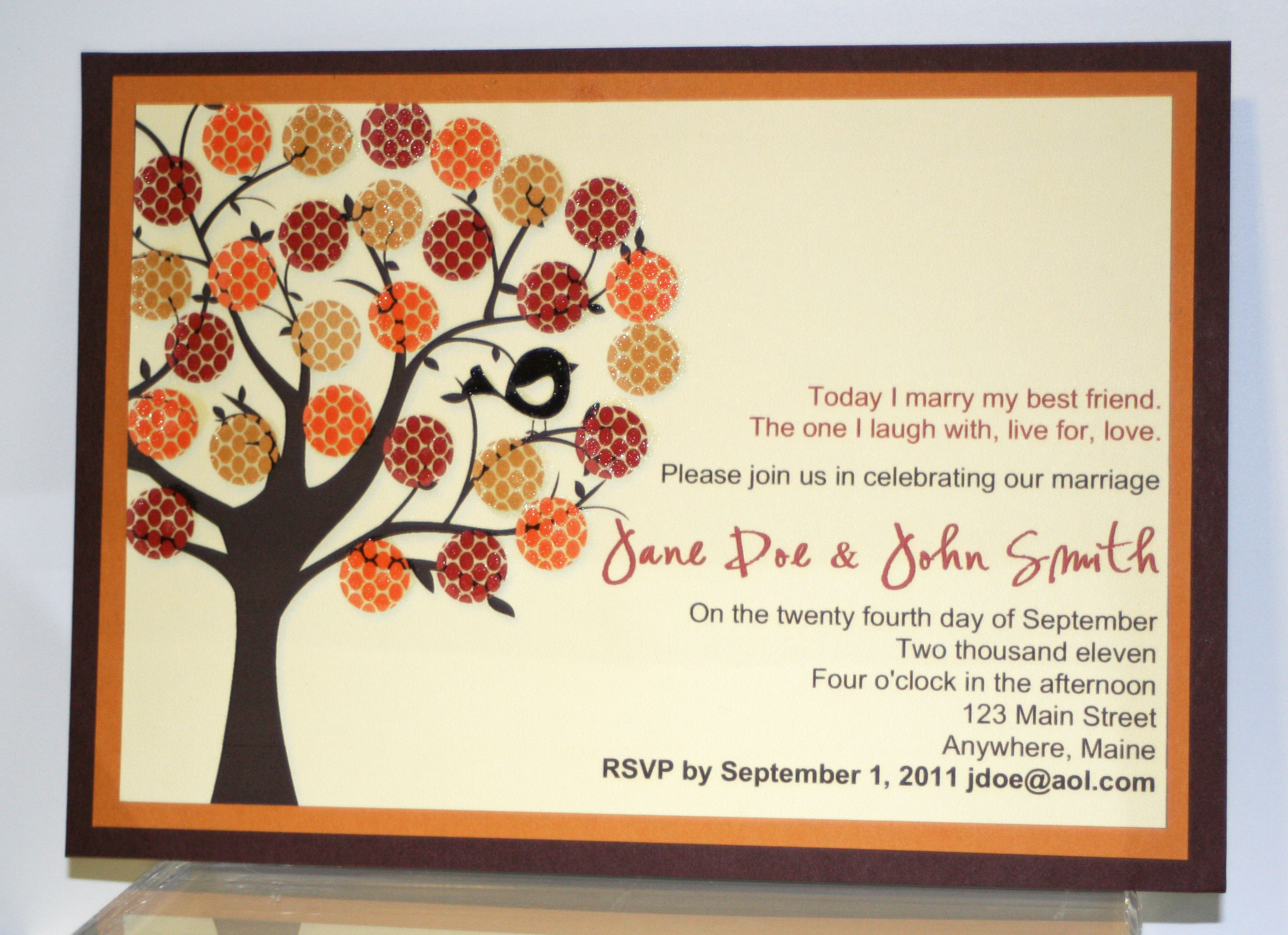 Whimsical autumn wedding invitation creative cucina this stopboris Gallery