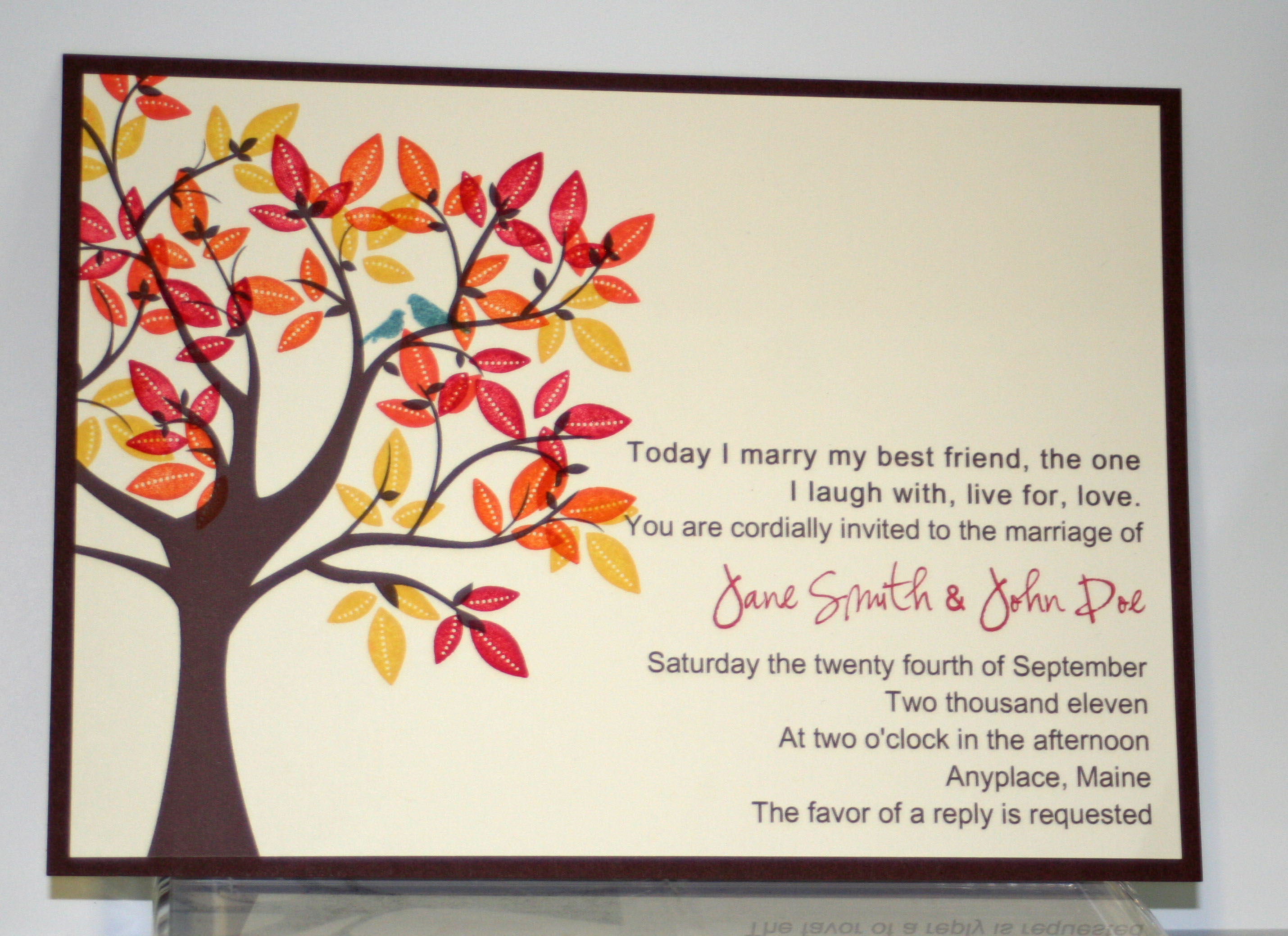 Birds in a Tree Wedding Invite | Creative Cucina