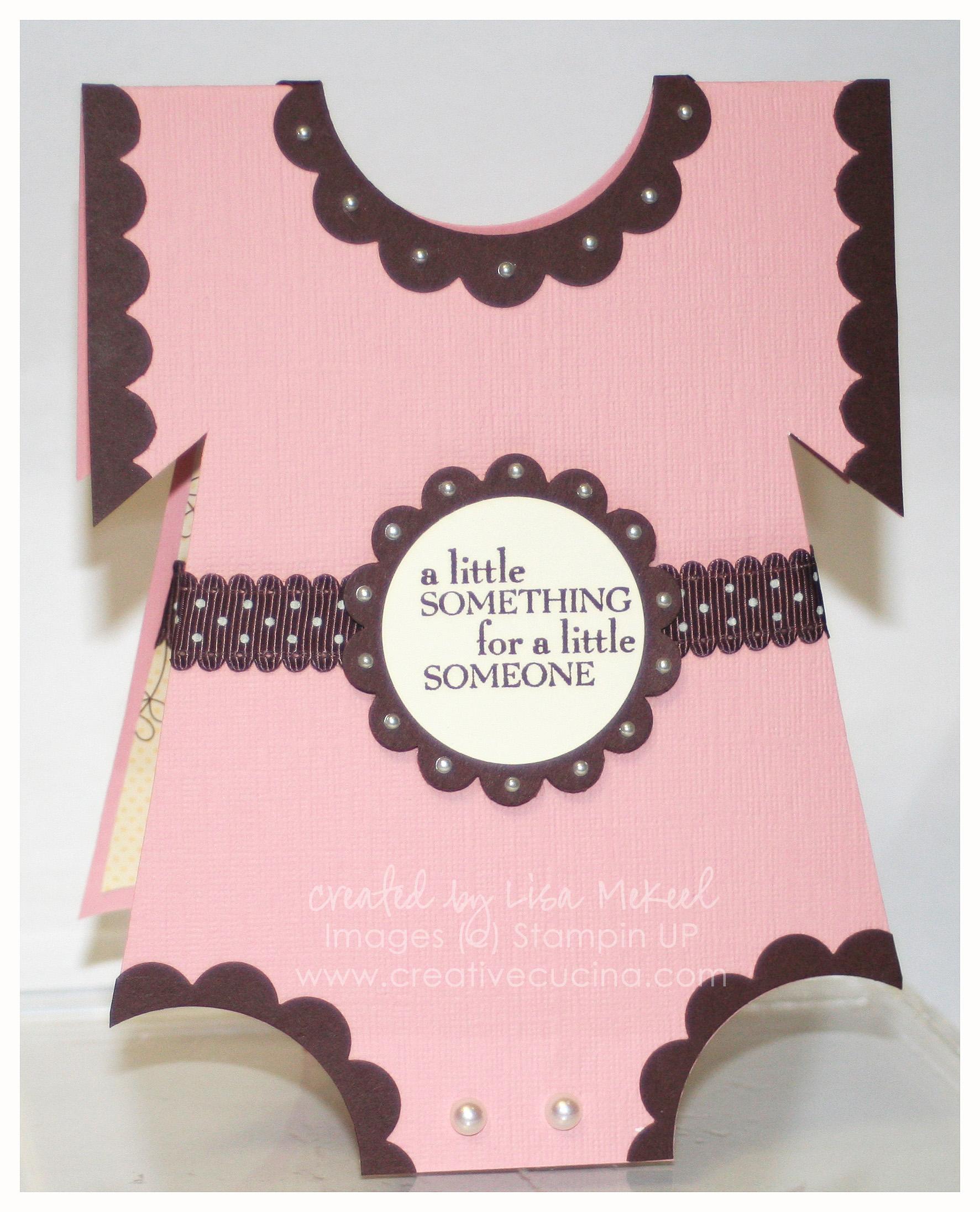 It's a Girl Onesie Card {Baby Gift Card Holder} | Creative Cucina
