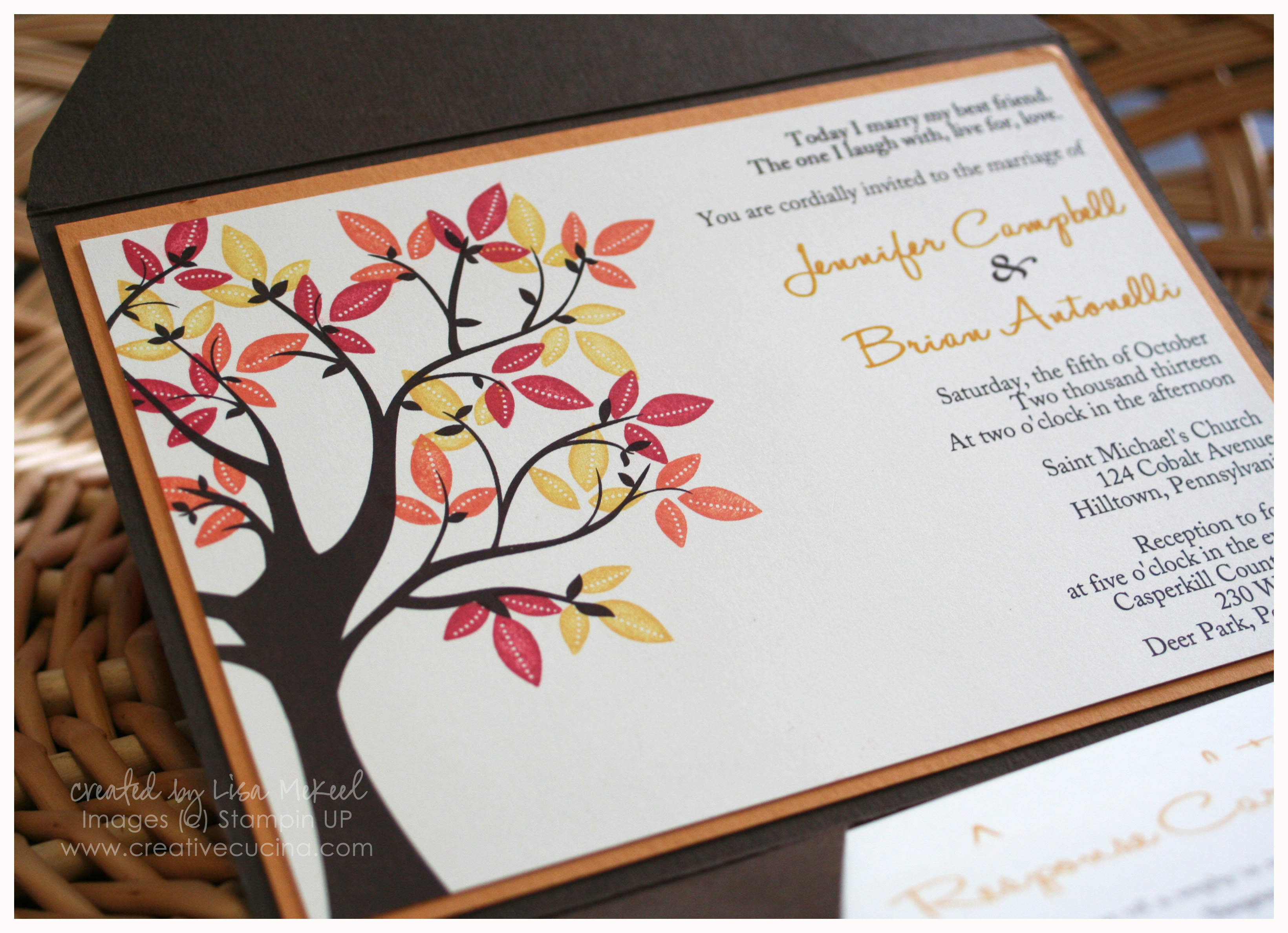 here is an updated version of my pocketfold fallautumn wedding invitation - Fall Themed Wedding Invitations