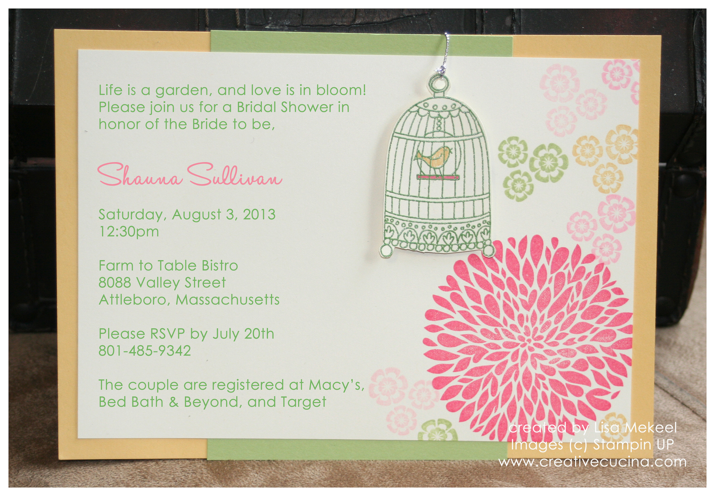 Summer Garden Bridal Shower Invitations