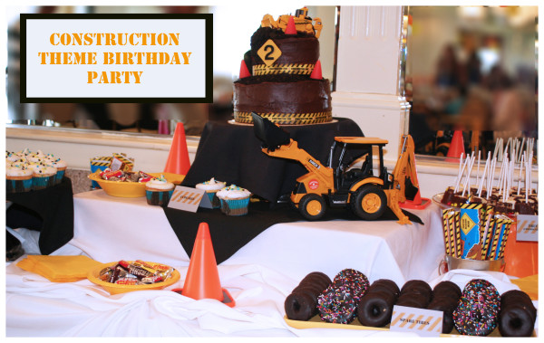truck party cake table